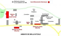 Ancienne abbaye de Belle-Etoile - English: Abbaye de Belle-Etoile, Cerisy-Belle-Etoile, Orne, modification de l'emplacement du manoir abbatial