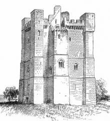 Château fort - Deutsch: Donjon in Chamboy / Chambois im Département Orne