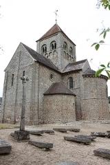 Eglise Notre-Dame-sur-l'Eau ou Notre-Dame-sous-l'Eau -  Vue depuis le cimetière.