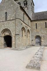 Eglise Notre-Dame-sur-l'Eau ou Notre-Dame-sous-l'Eau -  Marque sur le mur extérieur de l'ancien bas-côté.