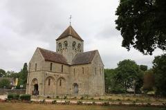 Eglise Notre-Dame-sur-l'Eau ou Notre-Dame-sous-l'Eau -  Vue d'ensemble de l'église de Notre Dame sur l'Eau.
