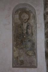 Eglise Notre-Dame-sur-l'Eau ou Notre-Dame-sous-l'Eau -  Une fresque dans l'église.