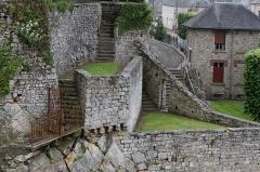 Enceinte de la ville - Français:   Vestiges à Domfront, Orne.