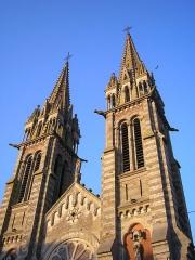 Eglise Notre-Dame de l'Assomption - Français:   La Ferté-Macé (Normandie, France). Les deux tours de l\'église Notre-Dame.