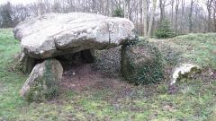 Dolmen dit Pierre-aux-Bignes - Français:   La pierre aux Bignes ou le dolmen des Bignes.