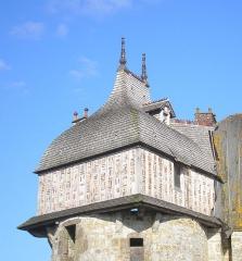 Manoir de la Sausserie -  La Haute-Chapelle (Normandie, France). Détail du manoir de la Saucerie.