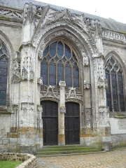 Eglise Notre-Dame - English: The north side of the church of Mortagne-au-Perche, Orne, France.