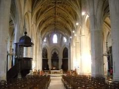 Eglise Notre-Dame - English: The interior of the church of Mortagne-au-Perche, Orne, France.