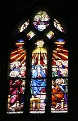 Eglise Notre-Dame - Français:   Vitrail dans l\'église Notre-Dame de Mortagne-au-Perche; signature: TOURNEL 1928
