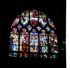 Eglise Notre-Dame - Français:   Vitrail dans l\'église Notre-Dame de Mortagne-au-Perche; signature: ?...1932