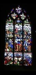 Eglise Notre-Dame - Français:   Vitrail dans l\'église Notre-Dame de Mortagne-au-Perche; signature: L. BARILLET  J. LECHEVALLIER  T. HANSSEN...