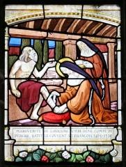 Eglise Notre-Dame - Français:   Vitrail dans l\'église Notre-Dame de Mortagne-au-Perche: Marguerite de Lorraine-Vaudémont