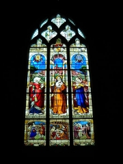 Eglise Notre-Dame - English: Stained glass in the church of Mortagne-au-Perche, Orne, France.