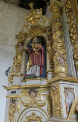 Chapelle Saint-Pierre - Esperanto: Interno de la kapelo Sankto Petro de Sommaire: Sankto Petro super la norda sakristia pordo.