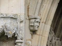 Château - Français:   Détail du portail du château de Banneville-la-Campagne.