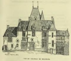Château - Français:   Le château de Beaumais au XIXe siècle