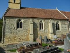 Eglise Saint-Pierre - Français:   Mur sud de la nef de l\'église de Boulon dont l\'appareil est majoritairement en arête-de-poisson
