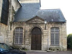 Ancienne chapelle du Saint-Sépulcre - English:  Door of the former collegial of the Holy Sepulchre in Caen.