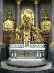 Eglise Notre-Dame ou de la Gloriette -  Caen (Calvados, France), ancien maître-autel de l'abbatiale de la Trinité de l'abbaye aux Dames de Caen et entreposé à Notre-Dame-de-la-Gloriette après la fermeture du monastère en 1790.