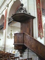 Eglise Notre-Dame ou de la Gloriette -  chaire de l'église Notre-Dame-de-la-Gloriette à Caen.