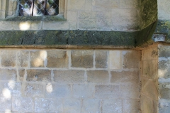 Eglise Saint-Ouen - Français:   Graffiti de dates 1575 - 1788 sur la face ouest de l\'église Saint-Ouen à Caen (Calvados)