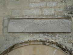 Château de Colombières - Français:   Linteau comportant des versets du chapitre 55 d\'Isaïe, château de Colombières
