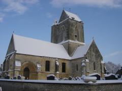 Eglise Saint-Pierre et Saint-Martin -  Photographie Eglise Condé Hiver Neige