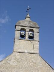 Eglise - Français:   clocher de l\'église de Cresserons surmonté d\'une girouette