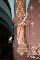 Eglise - Français:   Statue de Jeanne d\'Arc dans l\'église de Cresserons (Calvados)