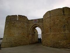 Château fort, actuellement collège -  Calvados Falaise Chateau 25012015