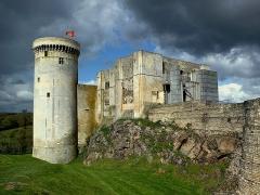 Château fort, actuellement collège -  Calvados Falaise Chateau Guillaume Le Conquerant Tour Talbot Donjon 23042016