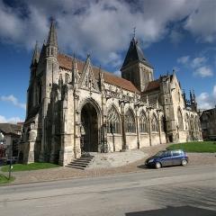 Eglise Saint-Gervais-Saint-Protais -  Angle sud-ouest de l'église Saint-Gervais de Falaise (Calvados, France)