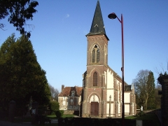 Château - English: Church and castle of Hermival-les-Vaux (Calvados, France).
