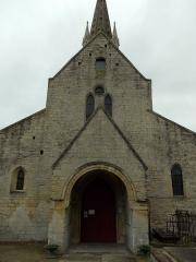 Eglise - Français:   Porche de l\'église ,XIIIè siècle d\'après Arcisse de Caumont