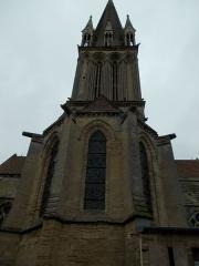 Eglise - Français:   Abside à 5 pans et clocher de l\'église Saint Martin