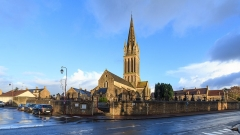 Eglise - Français:   Eglise St Martin de Langrune sur Mer, Calvados, France