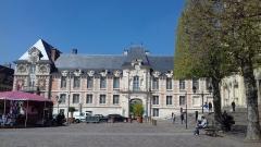 Ancien palais épiscopal, actuellement palais de justice - Français:   Lisieux, palais épiscopal, 1680