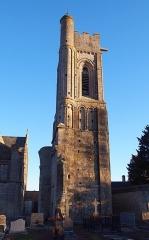 Ancienne église - Français:   Luc-sur-Mer (Normandie, France). Le clocher de l\'église Saint-Quentin.
