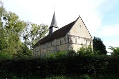 Ancienne église de Sainte-Marie-aux-Anglais - Église Sainte-Marie de Sainte-Marie-aux-Anglais, façades nord et ouest