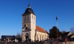 Eglise de Morteaux - Français:   Morteaux-Coulibœuf (Normandie, France). L\'église Saint-Georges.