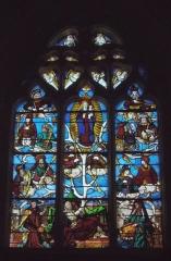 Eglise Notre-Dame - Français:   Orbec (Normandie, France). Le vitrail représentant l\'Arbre de Jessé, dans l\'église Notre-Dame.