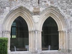 Ancienne abbaye -  Le Plessis-Grimoult (Normandie, France). Arcs de la salle capitulaire de l'abbaye (prieuré).