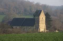 Eglise - Français:   L\'église Saint-Sever, Préaux-Bocage, Calvados.