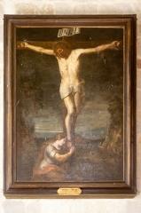 Eglise - Français:  Crucifixion avec Marie-Madeleine de Gaspard de Crayer, dans l'église Saint-Sébastien de Préaux-Saint-Sébastien (France).