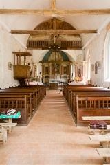 Eglise - Français:  Nef de l'église Saint-Sébastien de Préaux-Saint-Sébastien (France).