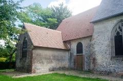 Eglise - Français:  Sacristie de l'église Saint-Sébastien de Préaux-Saint-Sébastien (France).