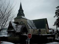 Eglise -  photo de l\'église de Rocques sous la neige