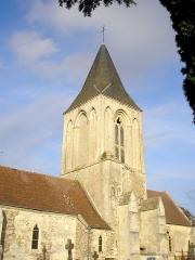 Eglise - Français:   Saint-Germain-le-Vasson (Normandie, France). Clocher de l\'église Saint-Germain.