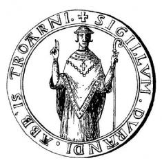 Ancienne abbaye - Français:   Sceau de Durand de Troarn.