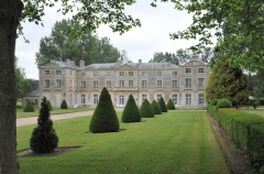 Château de Vaussieux - Deutsch: Schloss Vaussieux in Vaux-sur-Seulles, Calvados, Normandie; Ansicht von Süden